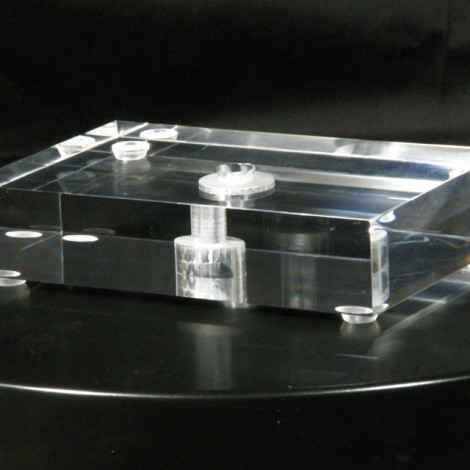 "Rectangle Acrylic Lamp Base 1.25"" Thick"