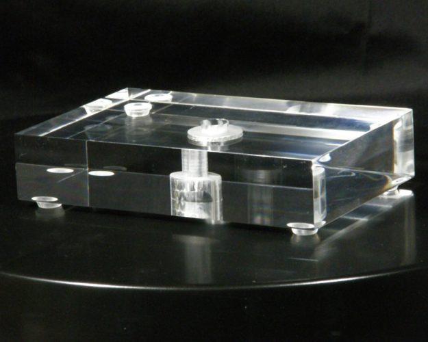 "Rectangle Acrylic Lamp Base 1.25"" Thick"
