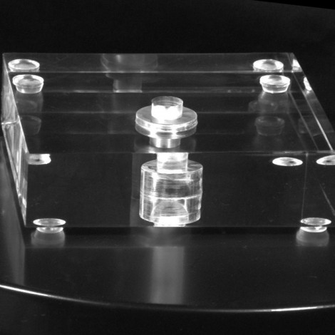 "Square Acrylic Lamp Base 1.25"" Thick"
