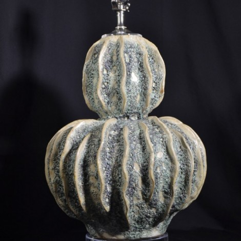 Cactus Pottery Lamp with Acrylic Base and Vase Cap