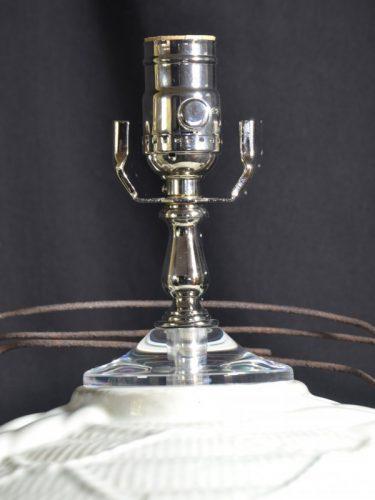 Acrylic Vase Cap on Custom Crock Lamp