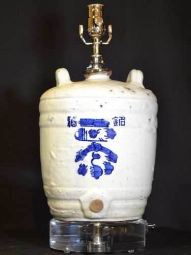 Custom Crock Lamp on Acrylic Base
