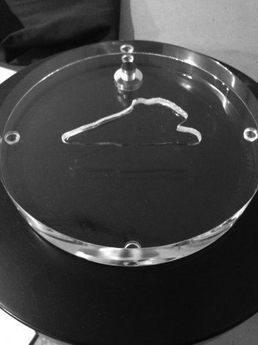 Custom Inset Without Jade Carving Mounted on Lucite (acrylic) Base