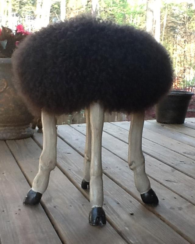 Custom Carved Goat Leg Stool Zadai S Studio