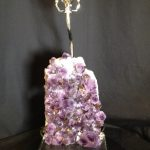 Custom Amethyst Quartz Lamp on Acrylic Base